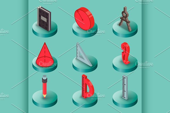 Geometry Color Isometric Icons