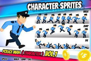 Character Sprite Policeman 1.