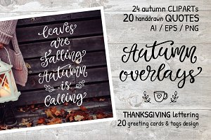 Autumn Thanksgiving Overlays Bundle