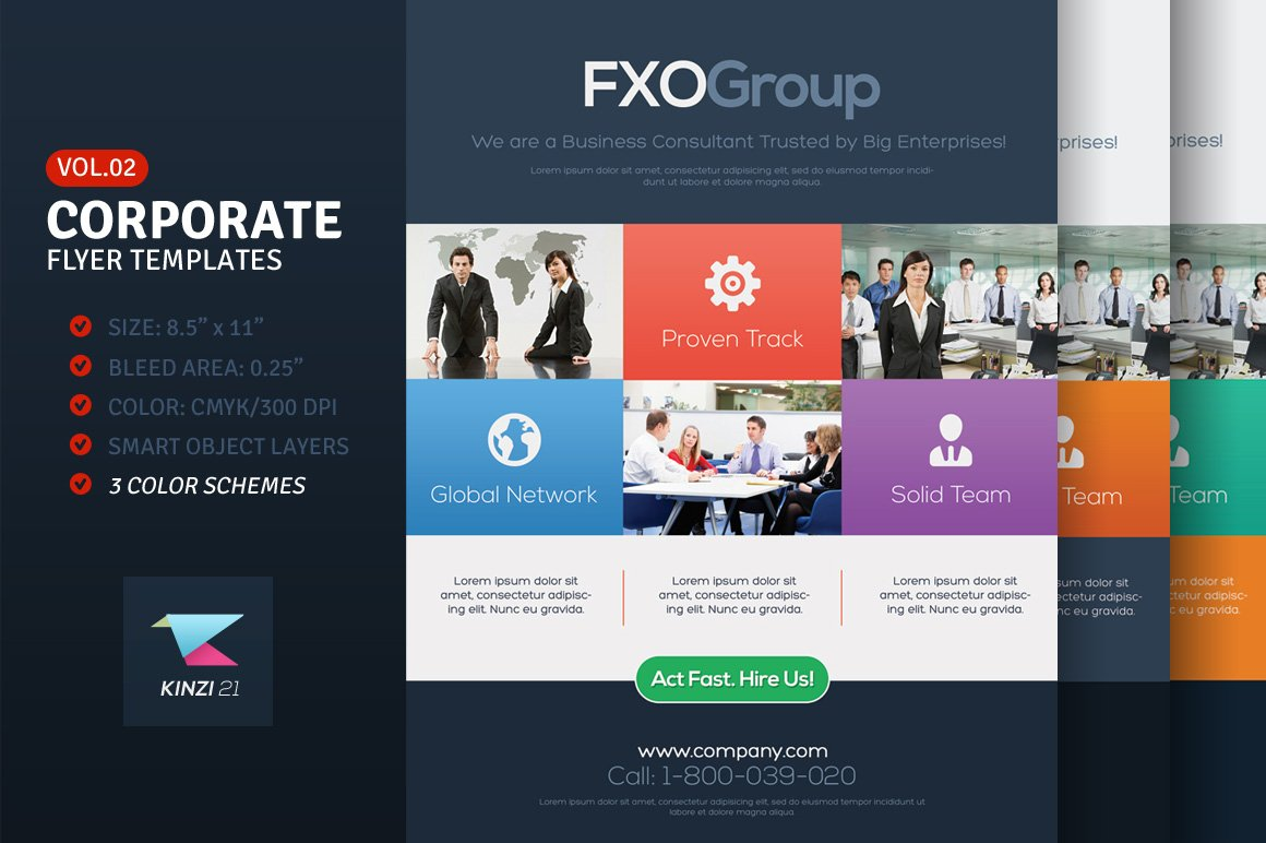 corporate flyer templates vol 02 flyer templates on creative market