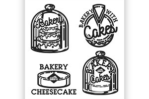 Vintage bakery emblems