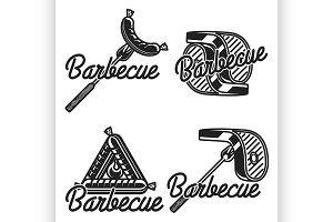 Vintage barbecue emblems
