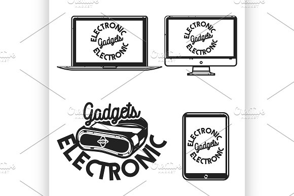 Vintage Electronic Gadgets Emblems