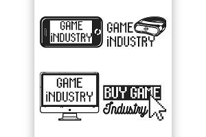 Vintage game industry emblems