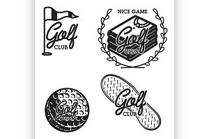 Vintage golf club emblems