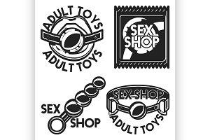 Vintage sex shop emblem