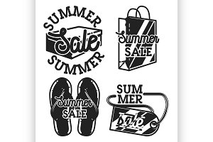 Vintage summer sale emblems