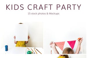 Kids Craft Party (15 Stock Photos)