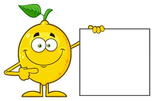 Smiling Yellow Lemon Fresh Fruit