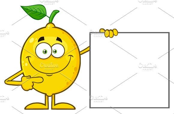Smiling Yellow Lemon Fresh Fruit