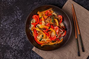 Cooking asian stir fry
