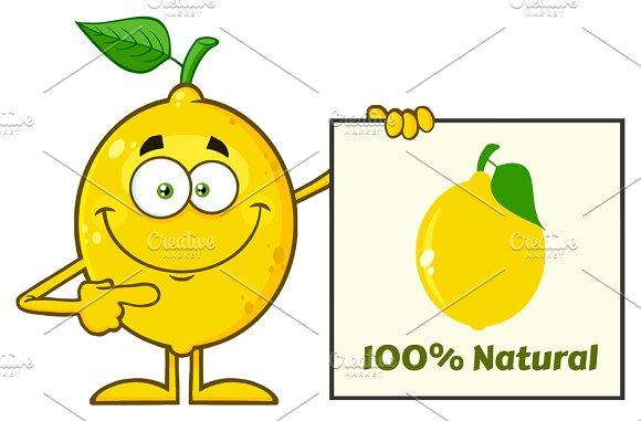 Yellow Lemon Mascot Character