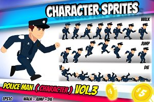 Character Sprite Policeman 3.