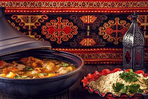Traditional moroccan tajine