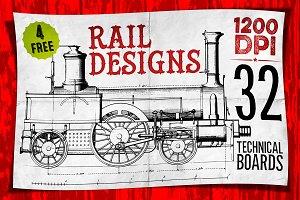 RAIL DESIGNS + 4 FREE BONUS