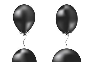 Black vector balloons