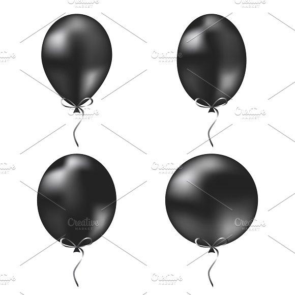 Black Vector Balloons