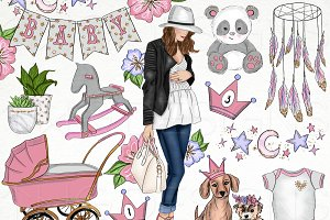 Baby Girl Nursery Clip Art