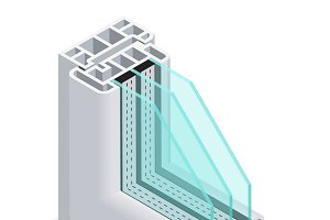 Energy efficient window section