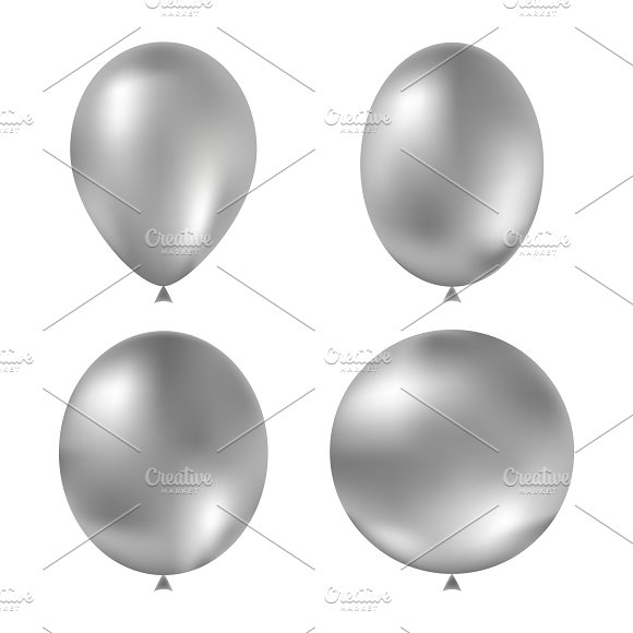 Grey Vector Balloons