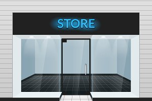 Store front view illustration