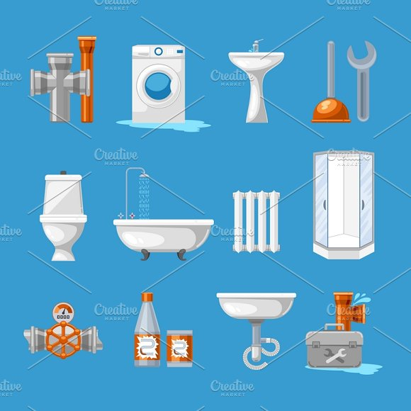 Plumbing And Sanitary Icons