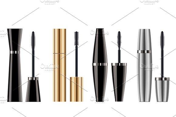 Set Of Mascara Brush For Makeup