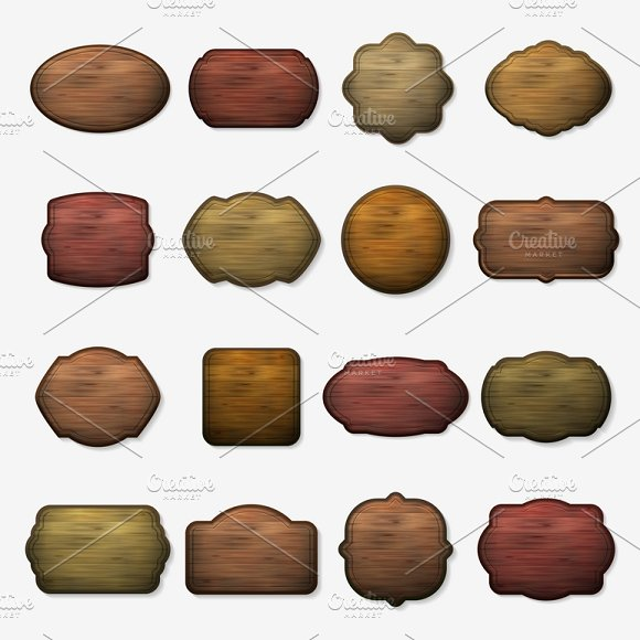 Wood Isolated Brown Boards