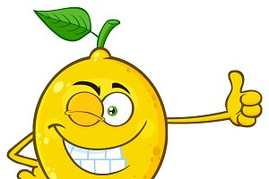 Winking Yellow Lemon Fresh Fruit