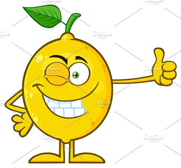 Winking Yellow Lemon Fresh Fruit