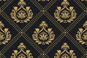 Victorian pattern seamless baroque