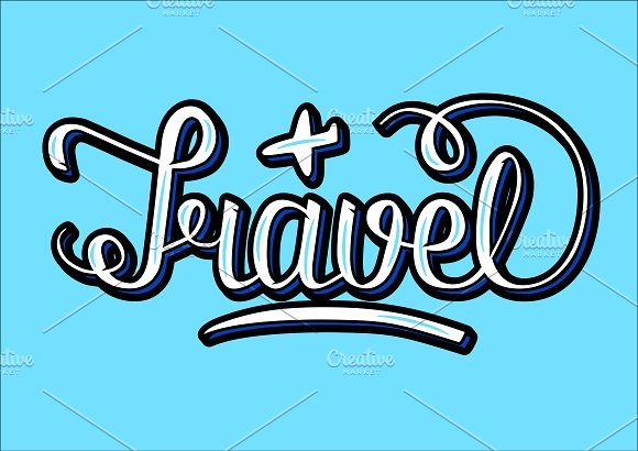 Travel Lettering With Volume