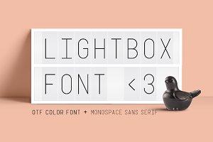 Lightbox Color Font