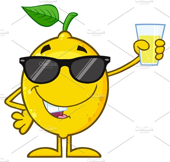 Lemon Fruit With Sunglasses