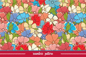 Floral pattern. Flower seamless.