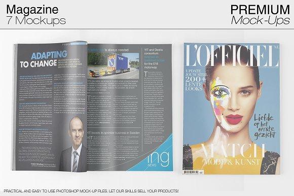 Magazine Mockup Set-Graphicriver中文最全的素材分享平台