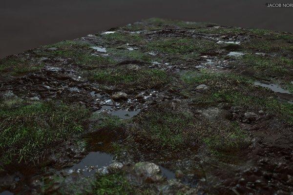 3D Textures & Materials - Textures - Grass, Mud, Puddles