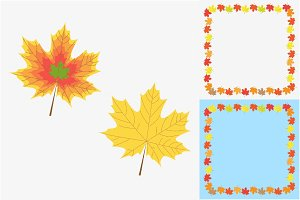 Maple leaf icons and frames