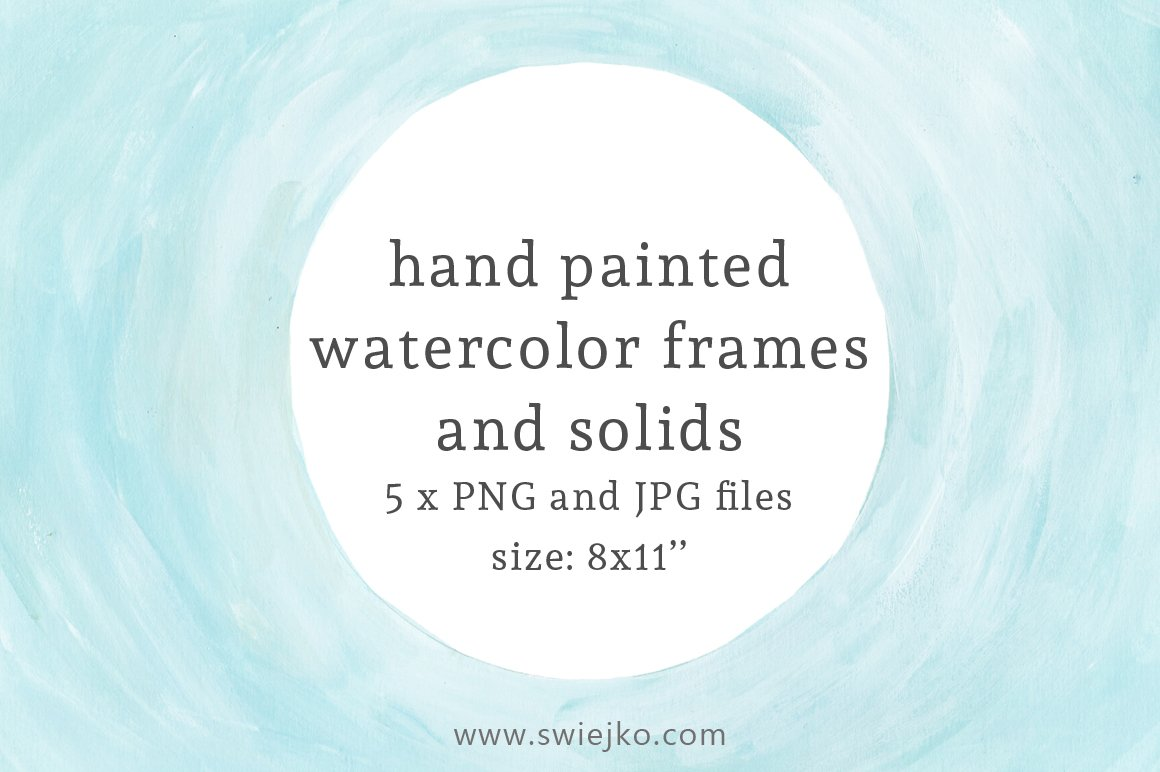 Watercolor Frames and Solids ~ Textures ~ Creative Market