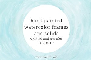 Watercolor Frames and Solids