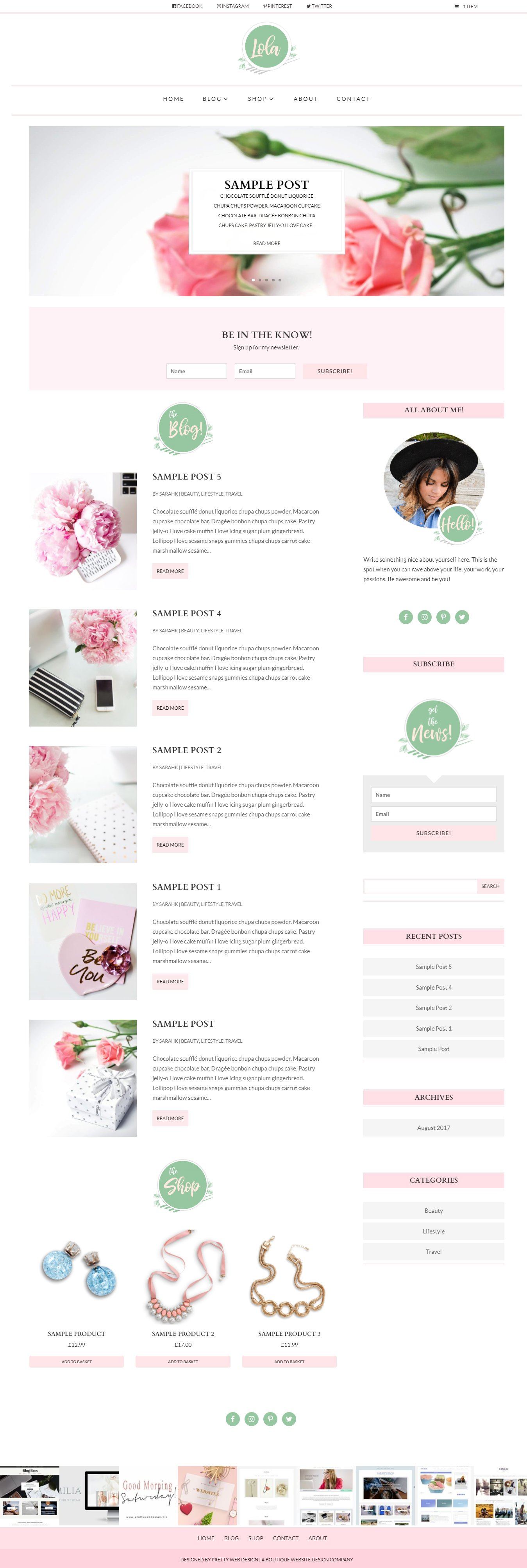 Lola - Divi Child Theme ~ WordPress Blog Themes ~ Creative