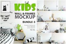 KIDS WALL & FRAMES Mockup Bundle - 3