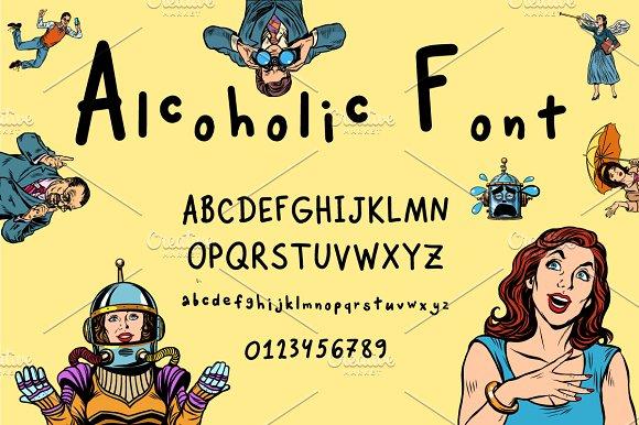 Alcoholic Font Handwritten Alphabet