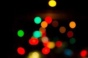 Abstract traffic bokeh light