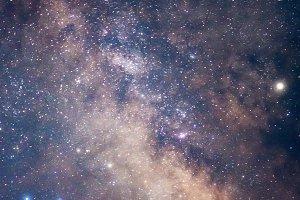 Milky way, starry night