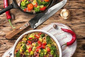Vegetarian Italian Omelette