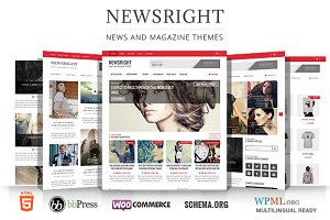 WordPress Magazine Themes: WPBootstrap - Newsright - Premium HD News Magazine