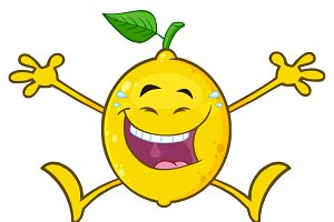 Laughing Yellow Lemon Fresh Fruit