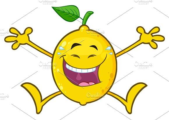 Laughing Yellow Lemon Fresh Fruit