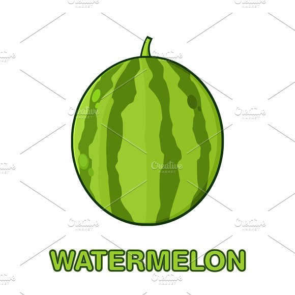Green Watermelon Simple Design